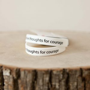 """For Courage"" bracelet pair"