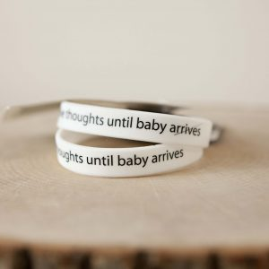 "Wristband DUO-""Until Baby Arrives"""