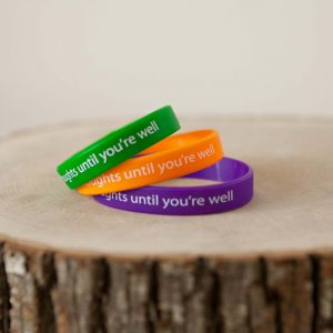 """Until You're Well"" Wristband (green)"